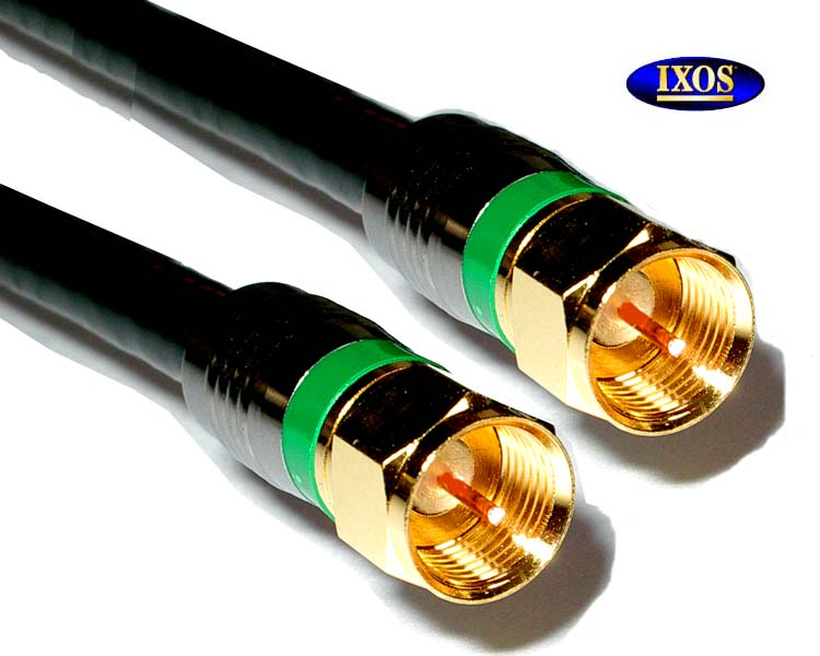 IXOS Premium Quad Shielded Satellite Cable 5M F-TYPE TO F-TYPE